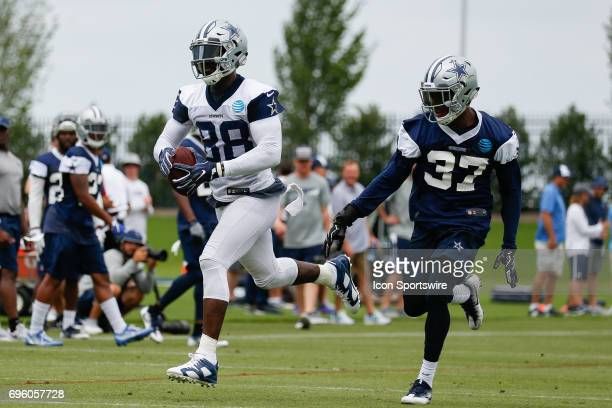 Dallas Cowboys Wide Receiver Dez Bryant runs a route during Dallas Cowboys minicamp on June 14 2017 at The Star in Frisco TX