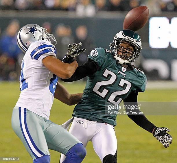 e75e1b94ce5 Dallas Cowboys wide receiver Laurent Robinson keeps Philadelphia Eagles  cornerback Asante Samuel away from the pass