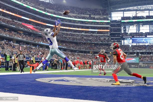 Dallas Cowboys Wide Receiver Michael Gallup catches a touchdown pass during the game between the Dallas Cowboys and Tampa Bay Buccaneers on December...