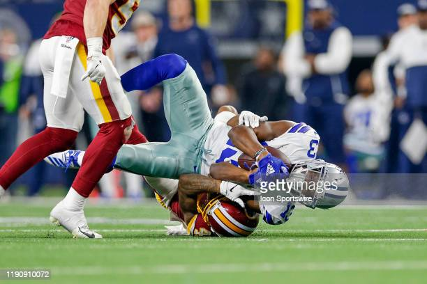 Dallas Cowboys Wide Receiver Michael Gallup makes a reception during the NFC East game between the Dallas Cowboys and Washington Redskins on December...