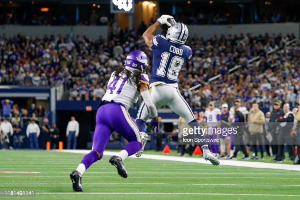 Dallas Cowboys Wide Receiver Randall Cobb makes a catch for a first down during the game between the Minnesota Vikings and Dallas Cowboys on November...