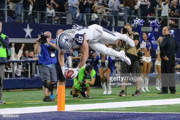 Dallas Cowboys wide receiver Ryan Switzer dives into the end zone for a touchdown on a punt return during the game between the Dallas Cowboys and the...