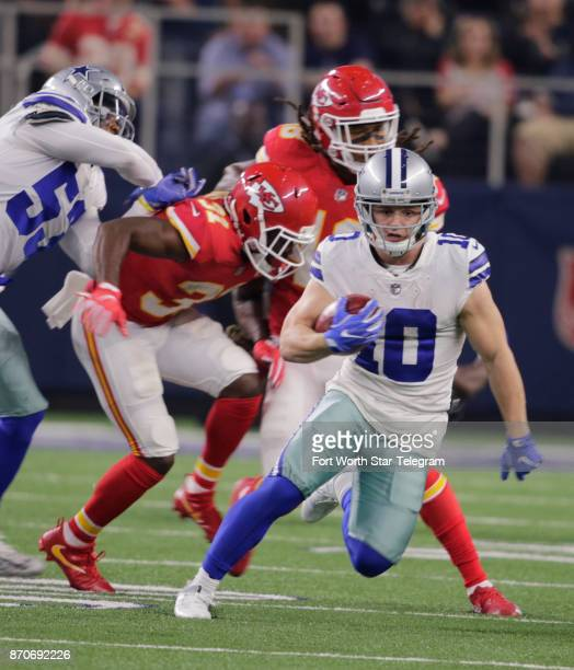 Dallas Cowboys wide receiver Ryan Switzer handles this punt with no problems against the Kansas City Chiefs on Sunday Nov 5 2017 at ATT Stadium in...