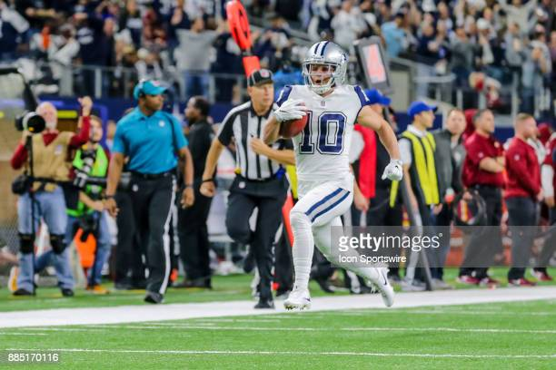 Dallas Cowboys wide receiver Ryan Switzer returns a 83 yard punt for a touchdown during the game between the Dallas Cowboys and the Washington...