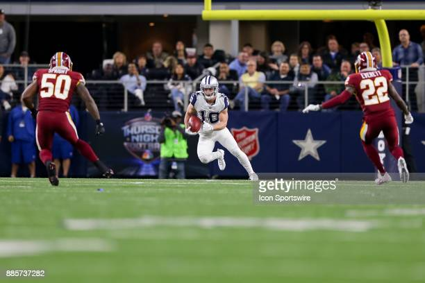 Dallas Cowboys wide receiver Ryan Switzer returns a punt for a touchdown during the Thursday Night Football game between the Washington Redskins and...