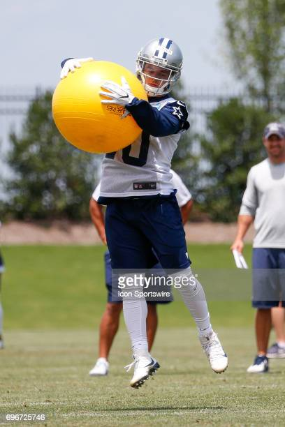 Dallas Cowboys Wide Receiver Ryan Switzer runs through a drill during Dallas Cowboys minicamp on June 14 2017 at The Star in Frisco TX