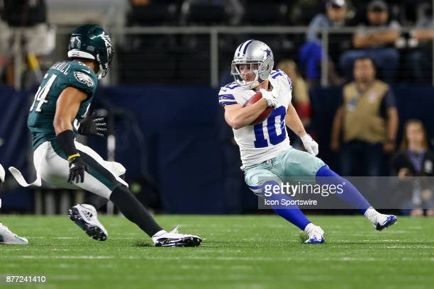 Dallas Cowboys wide receiver Ryan Switzer tries to cut back during the game between the Philadelphia Eagles and Dallas Cowboys on November 19 2017 at...