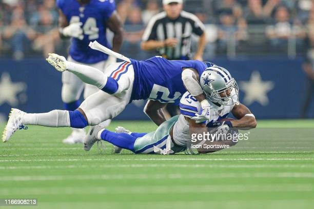 Dallas Cowboys Wide Receiver Tavon Austin catches a pass across the middle during the game between the New York Giants and the Dallas Cowboys on...