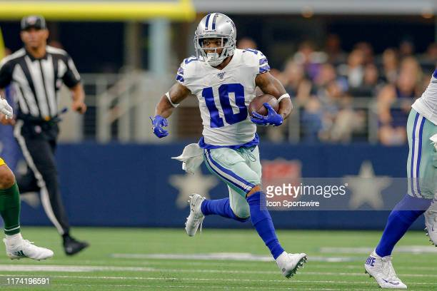 Dallas Cowboys wide receiver Tavon Austin runs for a long gain during the game between the Green Bay Packers and Dallas Cowboys on October 6, 2019 at...