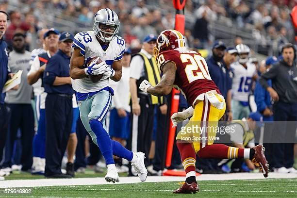 Dallas Cowboys Wide Receiver Terrance Williams [19021] makes a reception during the NFL game between the Washington Redskins and the Dallas Cowboys...