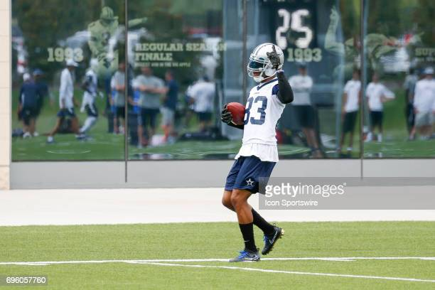 Dallas Cowboys Wide Receiver Terrance Williams catches a pass during Dallas Cowboys minicamp on June 14 2017 at The Star in Frisco TX