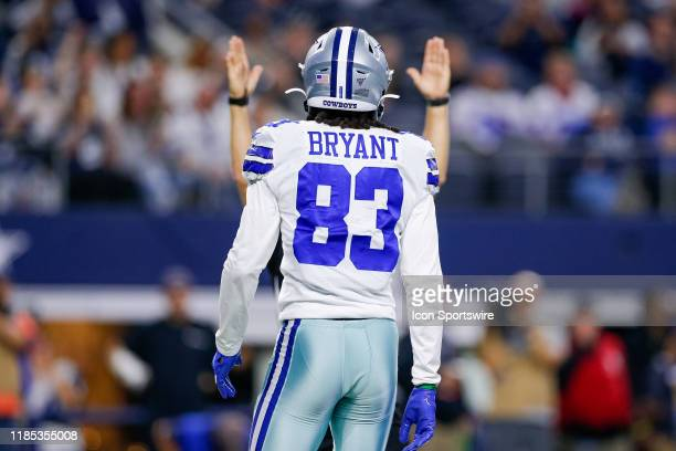 Dallas Cowboys Wide Receiver Ventell Bryant scores a touchdown during the game between the Buffalo Bills and Dallas Cowboys on November 28, 2019 at...