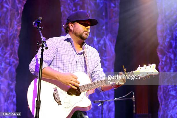 Dallas Davidson of The Peach Pickers performs onstage during the 6th Annual Georgia On My Mind presented by Gretsch at Ryman Auditorium Nashville on...