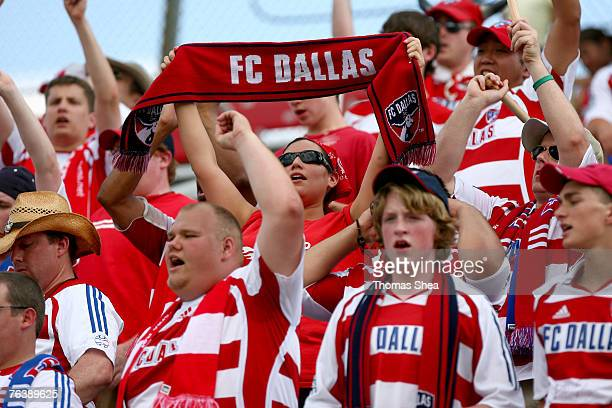 FC Dallas fans at the Houston Dynamo against FC Dallas on June 3 2007 at Robertson Stadium in Houston Texas Houston won 2 to 1