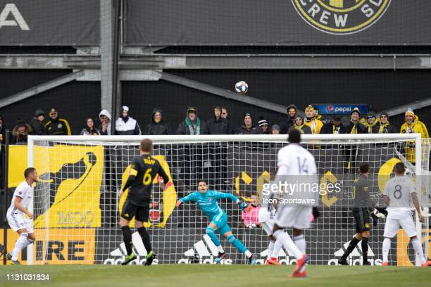 Dallas goalkeeper Jesse Gonzalez stays focused on a wide shot in the MLS regular season game between the Columbus Crew SC and the FC Dallas on March...