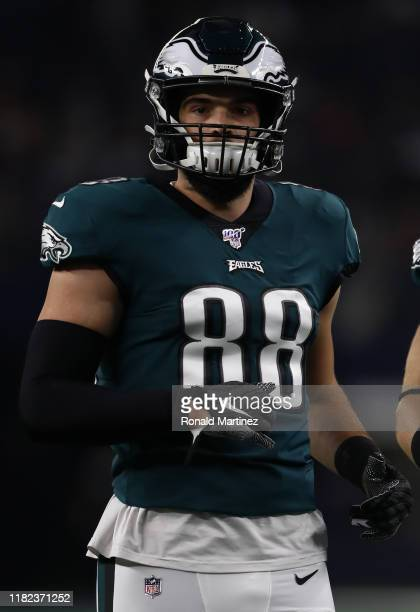 Dallas Goedert of the Philadelphia Eaglesat ATT Stadium on October 20 2019 in Arlington Texas