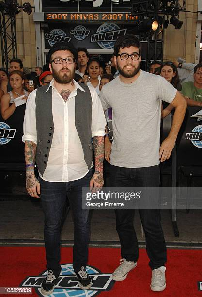 Dallas Green and Jesse Ingelvics of Alexisonfire during 18th Annual MuchMusic Video Awards Red Carpet at Chum/City Building in Toronto Ontario Canada