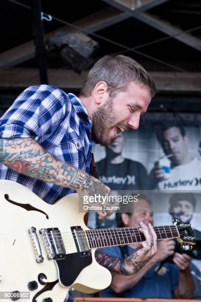 Dallas Green of Alexisonfire performs at the Vans Warped Tour on August 23 2009 at the Home Depot Center in Carson California
