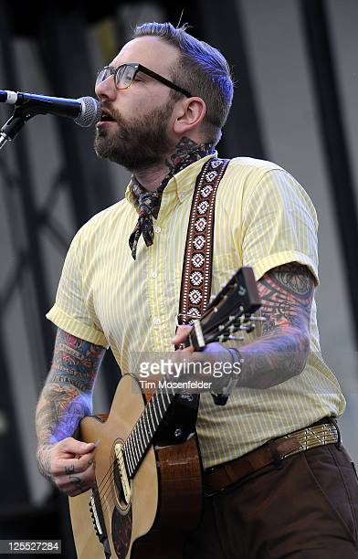 Dallas Green of City and Colour performs as part of the Austin City Limits Music Festival Day Two at Zilker Park on September 17, 2011 in Austin...