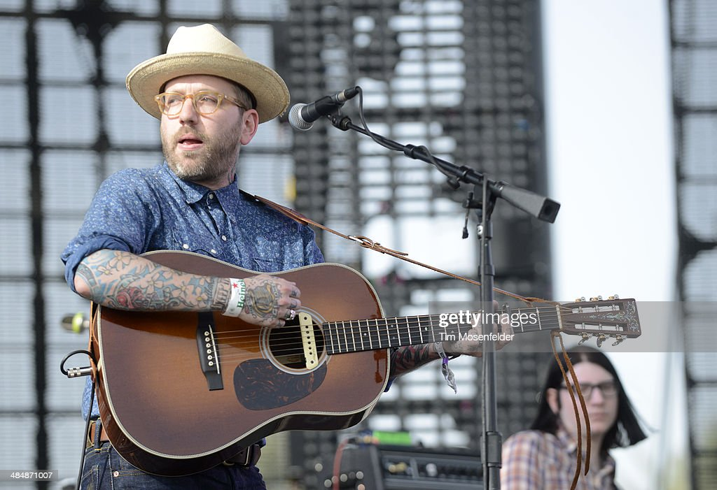 Dallas Green of City and Colour performs as part of the Coachella Valley Music and Arts Festival at The Empire Polo Club on April 12, 2014 in Indio, California.