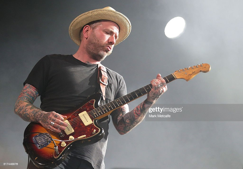 Dallas Green of City and Colour performs live for fans at the 2016 Byron Bay Bluesfest on March 25, 2016 in Byron Bay, Australia.