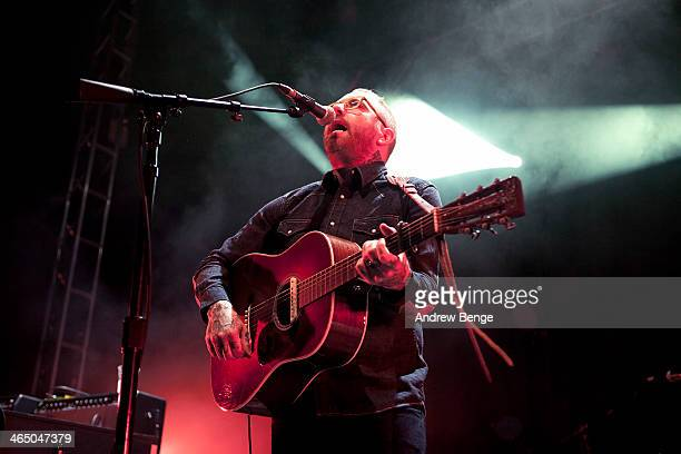 Dallas Green of City And Colour performs on stage at Leeds O2 Academy on January 25 2014 in Leeds United Kingdom