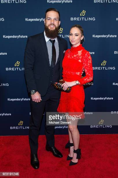 Dallas Keuchel attends Breitling Celebrates The North American Stopover of its Global Roadshow at Duggal Greenhouse on February 22 2018 in the...