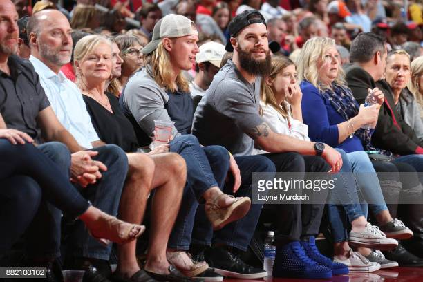 Dallas Keuchel during the game between the Utah Jazz and the Houston Rockets on November 5 2017 at the Toyota Center in Houston Texas NOTE TO USER...