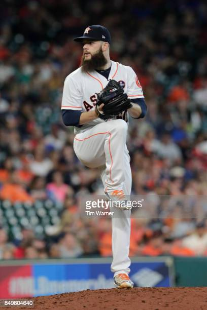 Dallas Keuchel of the Houston Astros pitches against the Seattle Mariners at Minute Maid Park on September 16 2017 in Houston Texas
