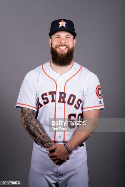 Dallas Keuchel of the Houston Astros poses during Photo Day on Wednesday February 21 2018 at the Ballpark of the Palm Beaches in West Palm Beach...
