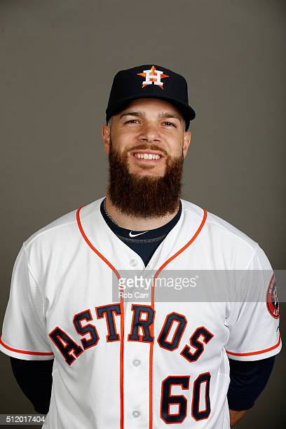 Dallas Keuchel of the Houston Astros poses on photo day at Osceola County Stadium on February 24 2016 in Kissimmee Florida