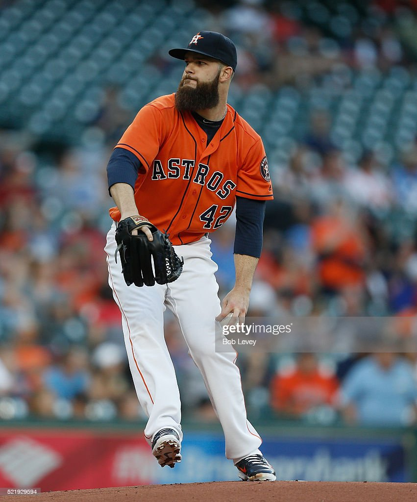 Dallas Keuchel Of The Houston Astros Throws In The First