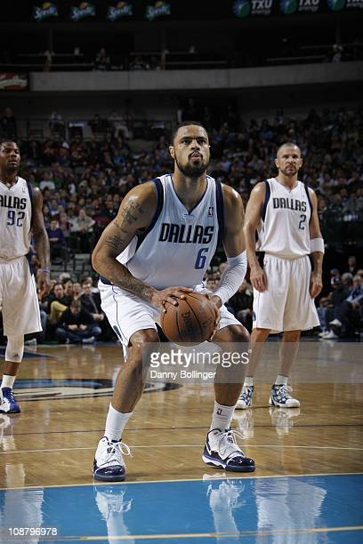 Dallas Mavericks center Tyson Chandler shoots a free throw during the game against the Washington Wizards on January 31 2011 at the American Airlines...