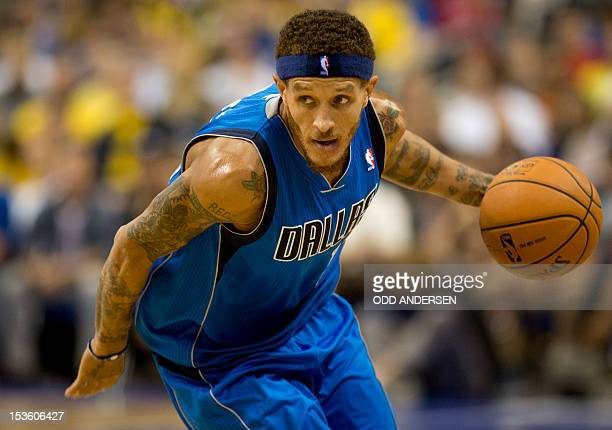 Dallas Mavericks' Delonte West runs during a basketball match Alba Berlin vs Dallas Mavericks at the O2 Arena in Berlin on October 6 2012 The game is...