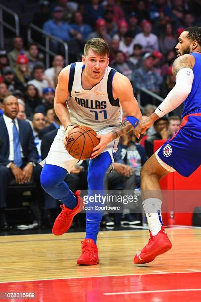 Dallas Mavericks Guard Luka Doncic goes up for a shot during a NBA game between the Dallas Mavericks and the Los Angeles Clippers on December 20 2018...