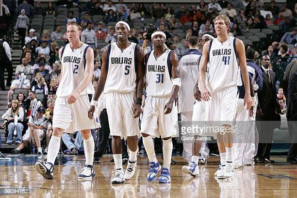Dallas Mavericks Keith Van Horn Josh Howard Jason Terry and Dirk Nowitzki  take the floor against 45876aebf