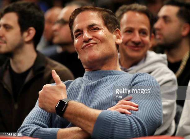 Dallas Mavericks Mark Cuban smiles during the game between the New York Knicks and the Dallas Mavericks at Madison Square Garden on January 30 2019...