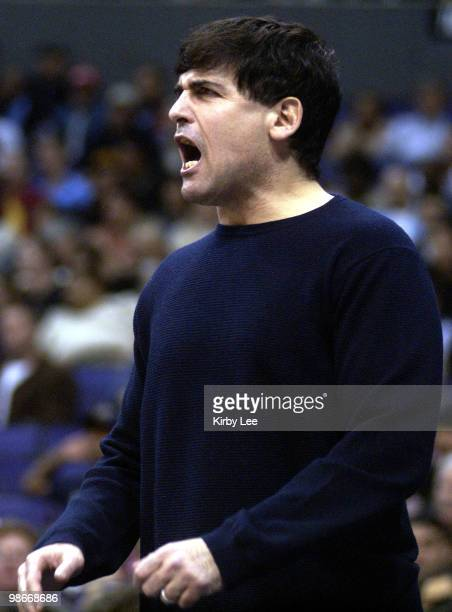 Dallas Mavericks owner Mark Cuban watches 10099 loss to the Los Angeles Clippers