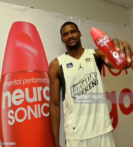 Dallas Mavricks Bernard James during Neuro Drinks At LudaDay Weekend Celebrity Basketball Game at GSU Sports Arena on September 1 2013 in Atlanta...