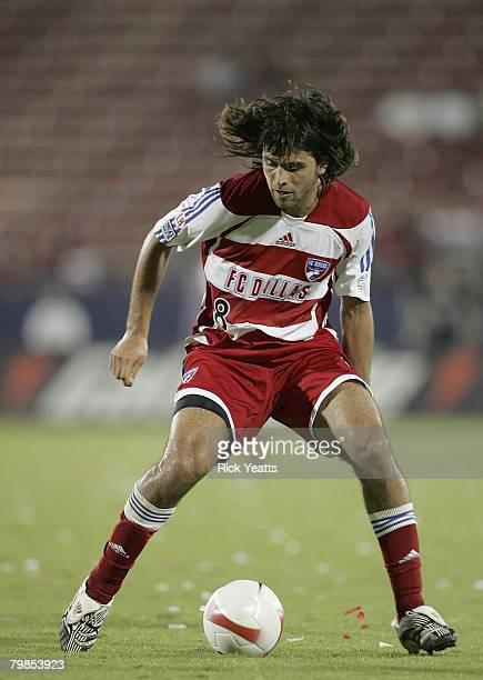 Dallas midfielder Juan Toja intercepts a pass during the 2007 Lamar Hunt US Open Cup Final on October 3 2007 at Pizza Hut Park in Frisco Texas
