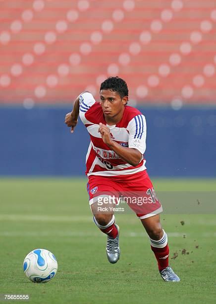 Dallas midfielder Ramon Nunez takes control of the ball during the FC Dallas against Atlanta Silverbacks on July 9, 2007 at Pizza Hut Park in Frisco,...
