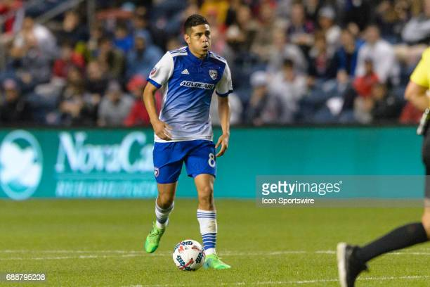 Dallas midfielder Victor Ulloa dribbles the ball in the second half during an MLS soccer match between FC Dallas and the Chicago Fire on May 25 at...