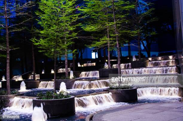 dallas park waterfalls - hank vermote stock pictures, royalty-free photos & images