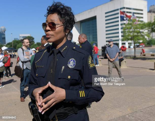 Dallas Police Chief Renee Hall was on hand at the Rally4Reform to push for gun reform, at City Hall in Dallas on Saturday, May 5, 2018.