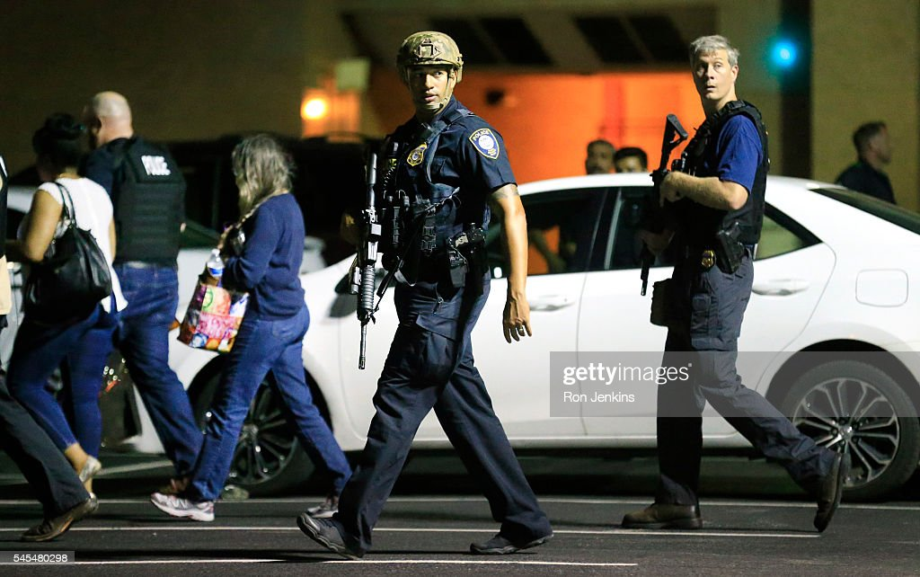 Five Police Officers Killed During Anti-Police Brutality March In Dallas : News Photo