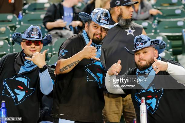 Dallas Renegades fans cheer for their team during the game between the Dallas Renegades and the St Louis Battlehawks on February 9 2019 at Globe Life...