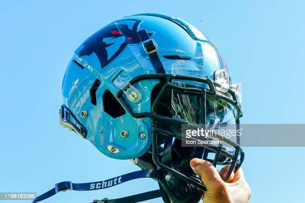 Dallas Renegades helmet during the open practice for the XFL Dallas Renegades on February 1, 2020 at Globe Life Park in Arlington, Texas.
