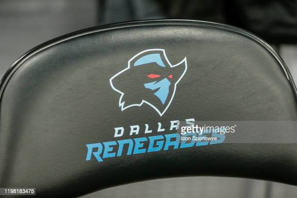 Dallas Renegades logo on a chair during the open practice for the XFL Dallas Renegades on February 1 2020 at Globe Life Park in Arlington Texas