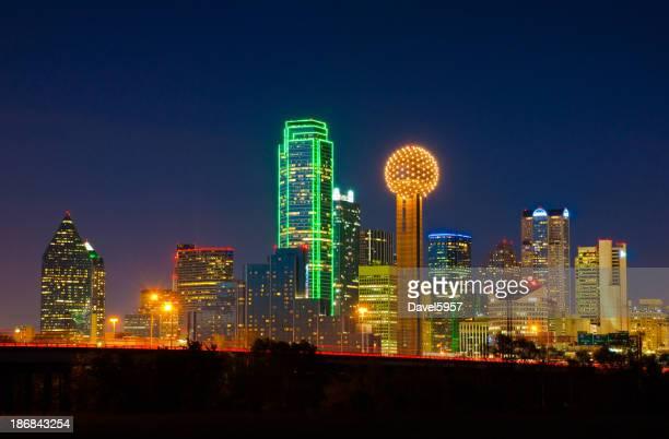 Ville de Dallas, de nuit
