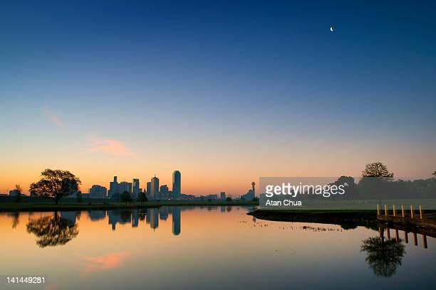 dallas skyline - dallas texas stock pictures, royalty-free photos & images